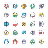 Nature Cool Vector Icons 2 Royalty Free Stock Photos