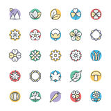 Nature Cool Vector Icons 3 Royalty Free Stock Photography