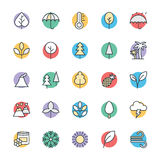 Nature Cool Vector Icons 1 Stock Photography