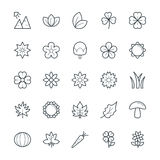 Nature Cool Vector Icons 3 Royalty Free Stock Images