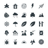 Nature Cool Vector Icons 2 Stock Images