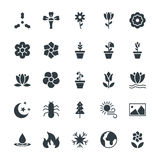 Nature Cool Vector Icons 5. Go green with these brand new Nature Colored Vector Icons You will love using these s in nature, ecology, environment and Stock Image