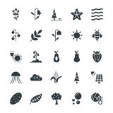 Nature Cool Vector Icons 4 Stock Images