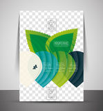 Nature corporate flyer print template Royalty Free Stock Image