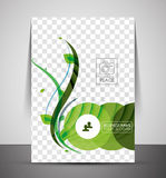 Nature corporate flyer print template Royalty Free Stock Photo
