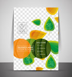 Nature corporate flyer print template Royalty Free Stock Images