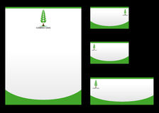 Nature corporate Identity template royalty free illustration