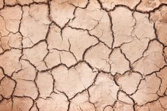 Nature cracked patterns of soil ground texture top view for background stock images