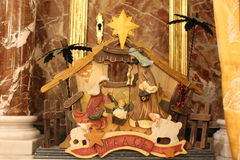 Nature creates the Nativity  - Christmas -Small Nativities from all over the World Royalty Free Stock Photo