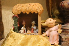 Nature creates the Nativity  - Christmas - Small Nativities from all over the World Royalty Free Stock Photos
