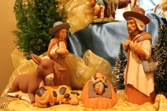 Nature creates the Nativity  - Christmas small Nativities from all over the World Royalty Free Stock Photo