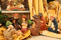 Nature creates the Nativity  -  Christmas - Small Nativities from all over the World Royalty Free Stock Images