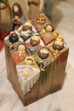 Nature creates the Nativity  - Christmas - Small Nativities from all over the World Stock Photography