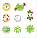 Nature creative ecology symbols set Royalty Free Stock Image