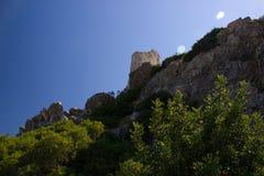 Nature d'été d'architecture de bâtiments historiques de Rhodos Grèce de château d'Asklipeiou Photos libres de droits