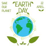 Earth day, 22 April, Save our planet. Stock Photos