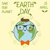 Earth day, 22 April, Save our planet. stock illustration