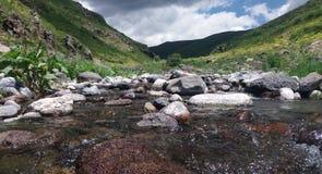 Nature de beauté avec la rivière Images libres de droits