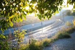 Nature de chemin de fer de soleil Photographie stock
