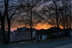Nature de l'hiver Ville photos libres de droits