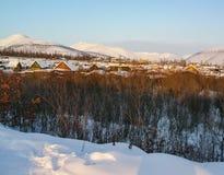 Nature de paysage de Chukotka, de toundra de forêt et de toundra photographie stock libre de droits