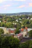 Nature de paysage de vue de la Saxe de ville de ville de Chemnitz photo libre de droits