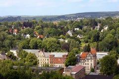 Nature de paysage de vue de la Saxe de ville de ville de Chemnitz Images libres de droits