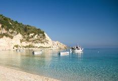 Nature de plage d'été de Leucade Grèce Photos libres de droits
