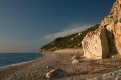 Nature de plage d'été de Leucade Grèce Images libres de droits