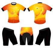 Nature de silhouette sur le T-shirt de sports Photos libres de droits