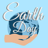 Nature de soin de planète de jour de terre Images libres de droits