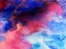 Nature de vague fraîche de mer de lever de soleil de matin de ciel de fond d'abrégé sur art d'aquarelle la belle a donné à l'imag Image libre de droits