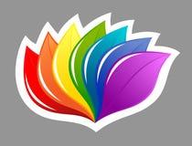 Nature design element in rainbow colors Stock Image
