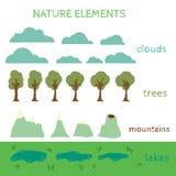 Nature Design elements. Build your own Landscape Stock Images
