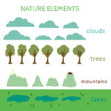 Nature Design elements. Build your own Landscape Stock Images
