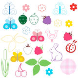 Nature design objects set. Stock Photo