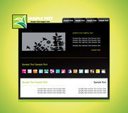 Nature design templates Royalty Free Stock Image