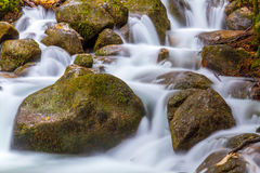 Water stream stones Stock Photos
