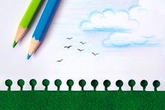 Nature Drawing Stock Photos