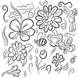 Nature Drawings Stock Photo