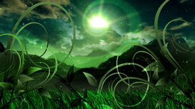 Nature Dream Landscape Scenic Space Animation. Video animation