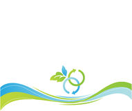 Nature eco background. Vector Nature eco background and leaves Stock Photos