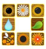 Nature and eco creative symbols set Stock Photography