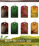 Nature Eco friendly tags Royalty Free Stock Photo