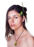 Nature eco girl Stock Photography