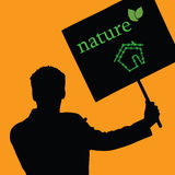 Nature eco house color vector Stock Image