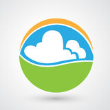 Nature eco icon Stock Images