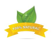 Nature eco ribbon and leaf symbol Royalty Free Stock Photos