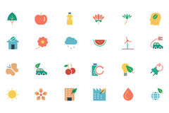 Nature and Ecology Colored Icons 1 Royalty Free Stock Photography