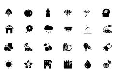 Nature and Ecology Colored Icons 1 Royalty Free Stock Photo